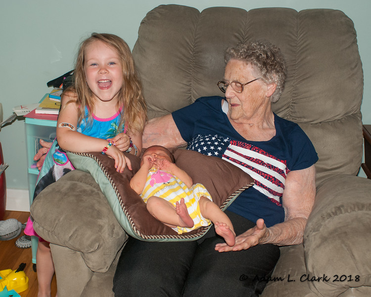 Great Grammy Clark gets to hold Madison