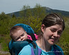 """2019.05.25<br> Madison tuckered out on the way down Gap Mountain after her first """"hike"""""""
