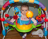 2019.01.16<br> Madison standing in her bouncy chair