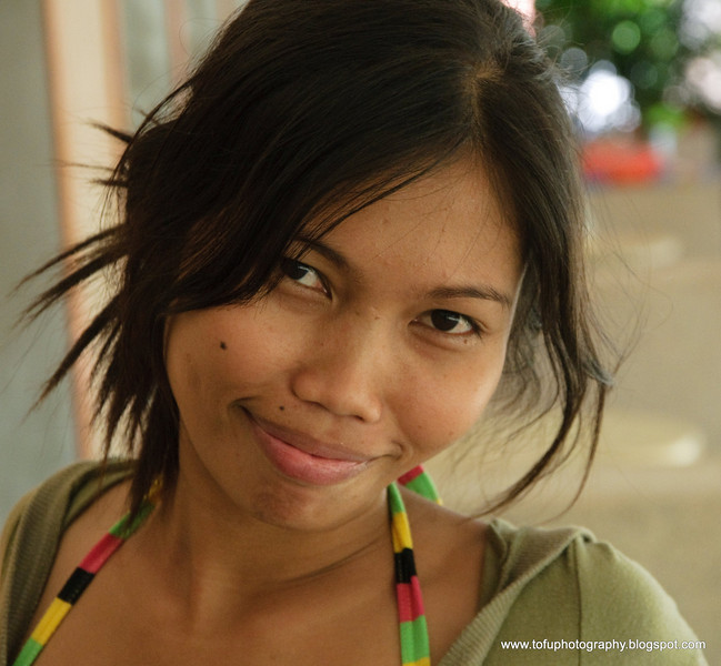 Mae modeling at Tambuli Resort on Mactan Island in the Philippines in March 2009