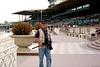 Larry at Santa Anita Race Track. Photo by Bob Story