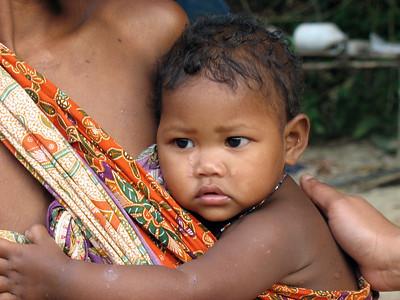 Malaysia - Taman Negara National Park -- Orang Asli (aborigine village)