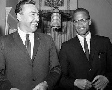 U.S. Rep. Adam Clayton Powell, (D-NY.), and Malcolm X at Siloam Presbyterian Church, Brooklyn before March 16th boycott of  New York City public schools.