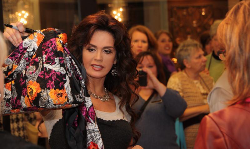 Marie Osmond in Atlanta showing off her new merchandise.
