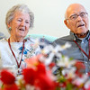 Marie and Arthur Farnsworth of Leominster have been married for 66 years and are going on 67, Thursday at Manor On the Hill.<br /> SENTINEL & ENTERPRISE / BRETT CRAWFORD