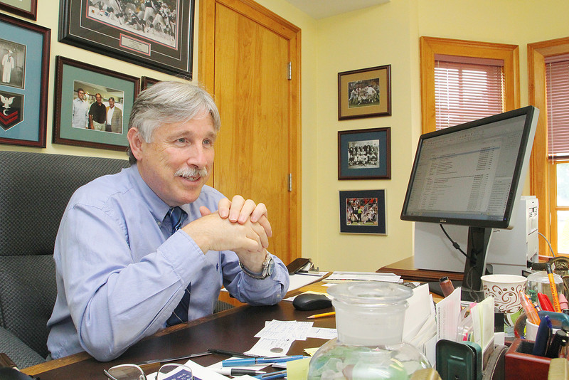 """Leominster City Councilor Mark Bodanza who has written three books has just finished his third book """"Resolve and Rescue."""" He talked about his book at his law office in Leominster on Tuesday morning. SENTINEL & ENTERPRISE/JOHN LOVE"""