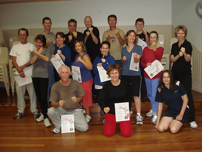 Martin Day's Self Defence Course completion May 2010