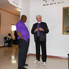 Bishop Duracin of Haiti and our own Bishop Cate.<br /> Port au Prince airport.