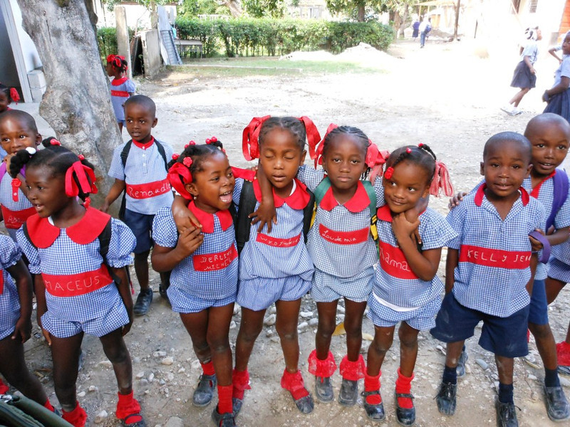 Kindergarteners at Trinity School - Port au Prince