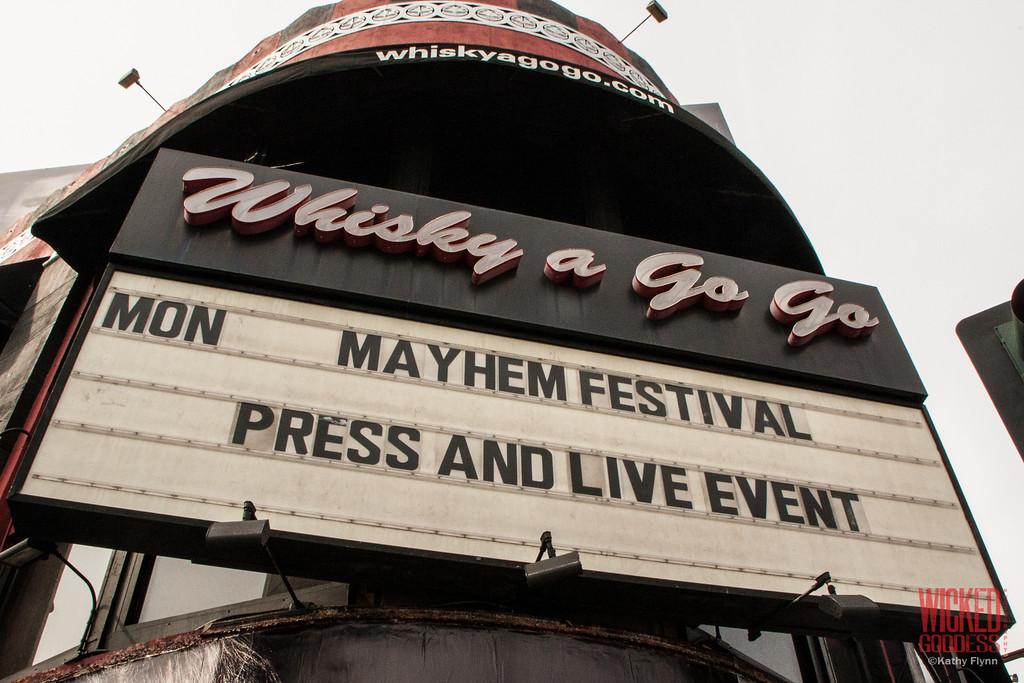 Mayhem Festival Band Reveal at the Whisky a Go Go.