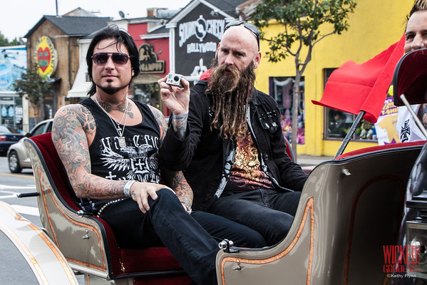 Five Finger Death Punch arriving on the scene.