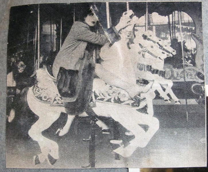 Woman on Merry-Go-Round Horse (05102)