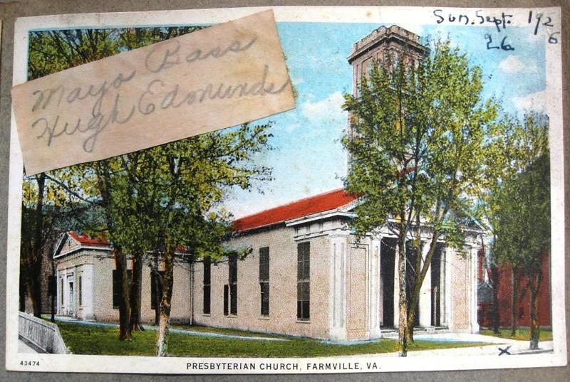 Farmville Presbyterian Church Postcard (05086)