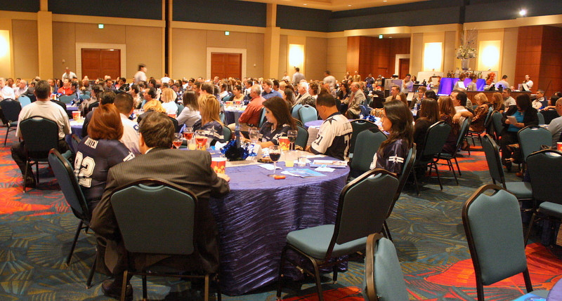 Wide shot of the banquet hall at the 2011 McAllen Chamber of Commerce Awards Banquet.