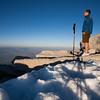 Posing near the plentiful snow atop Mt San Jacinto (10,800 feet), thirty minutes to sunset.