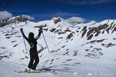Skiing on Mölltal, Austria, May 2012