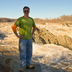 "Thanks to my good friend Paul, AKA ""Grasshopper,"" I have this shot of me above the Potomac in 2007."