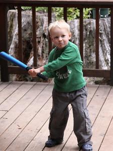 Eli at bat