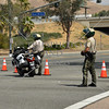 Police on security during the 2017 Memorial Day West Coast Thunder Bike Run in Moreno Valley, California.