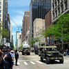 Memorial Day Parade 2014 on the streets of downtown Chicago, Illinois.