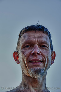 Coal Miner Portrait – in front of a blue Sky