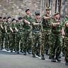 Army on Royal Mile, Edinburgh