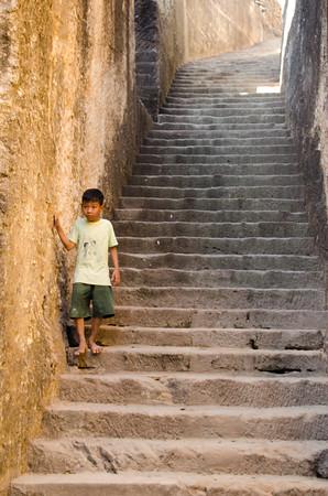 Boy on the Steps