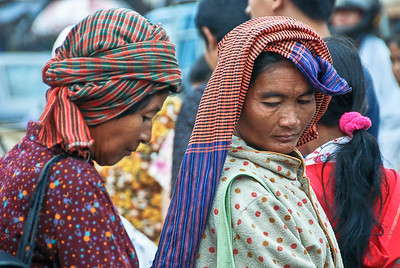 Women at a market in Strung Trenk. Cambodia