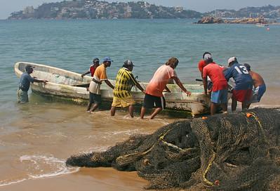 net fishermen in Mexico