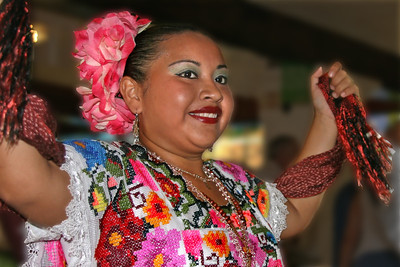 Dancing woman in Mexico