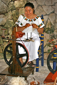 Mayan woman, Xcaret, Mexico