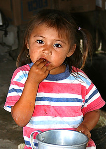 Mayan village child near Xel Ha