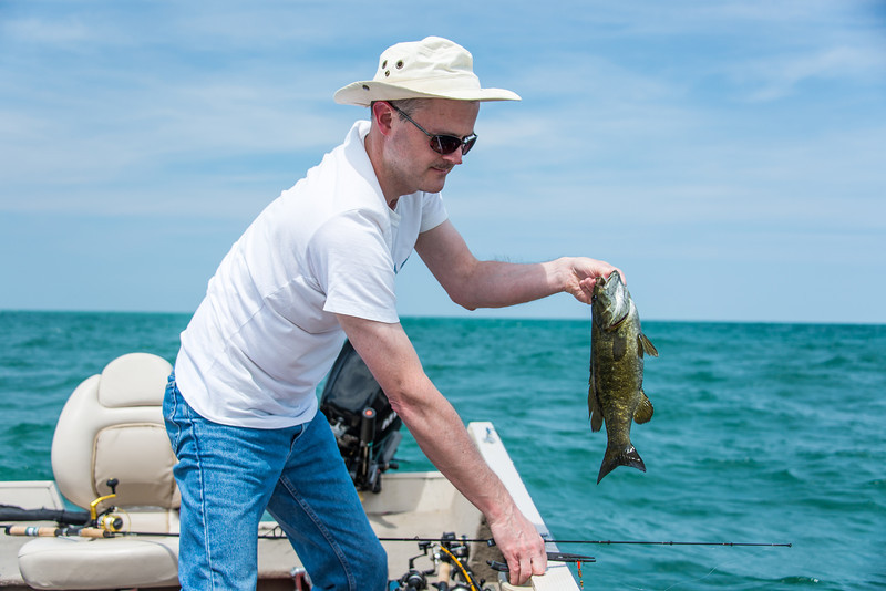 Eric with Smallmouth Bass - June 2013