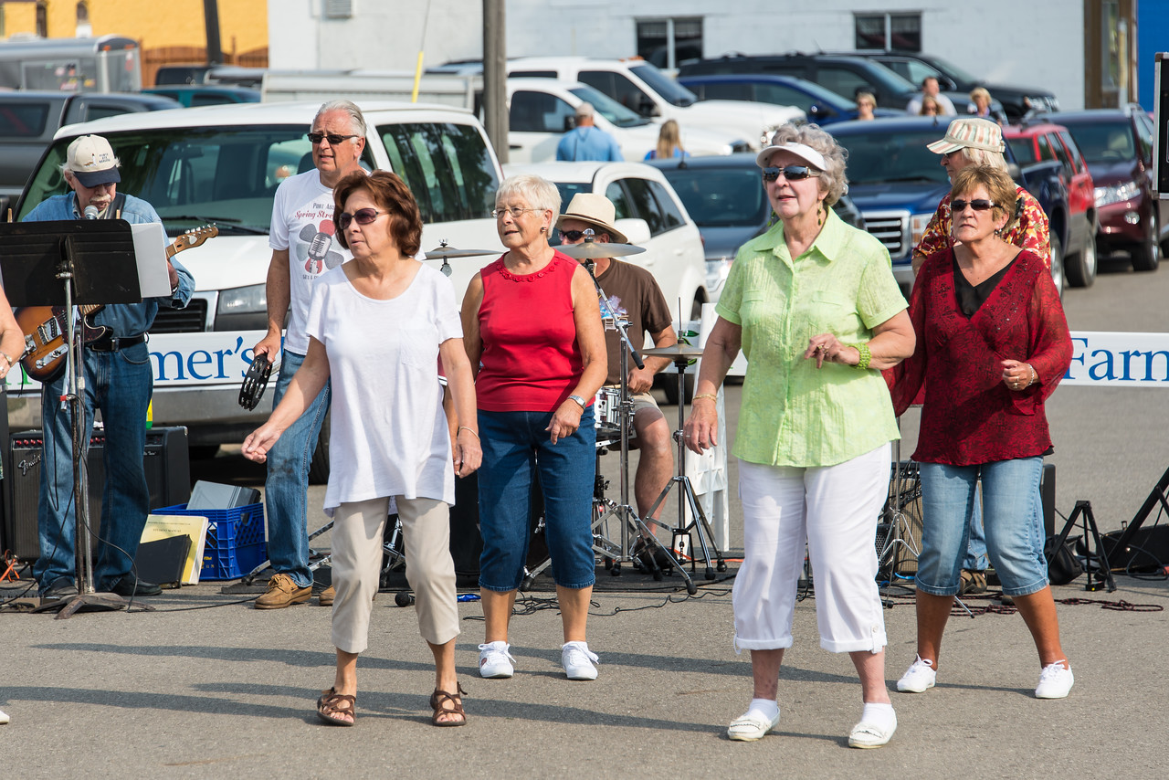 Port Austin Stompers performing at Farmer's Market - July 2014