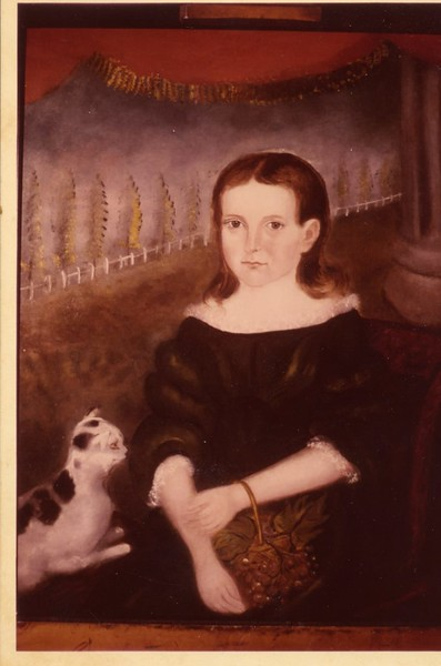 A Portrait by Henry James Brown of Mildred Minerva Wilkinson, Eight  Years Old (4093)