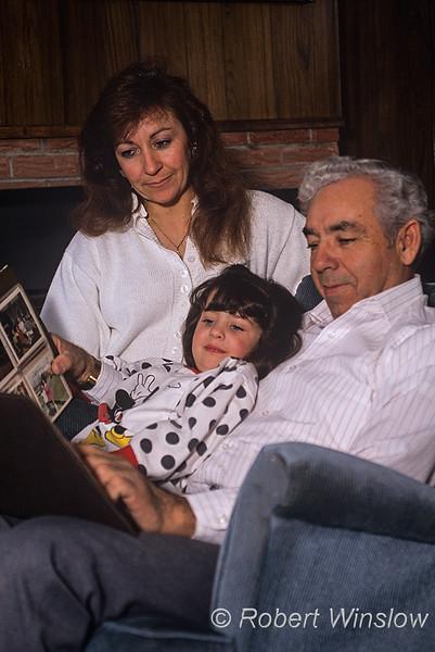 Model Released, Three generations, Hispanic Family
