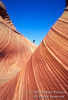 Model Released, Hiker, Sandstone Formation(s), Paria Canyon-Vermillions Cliffs Wilderness, Arizona, USA, North America