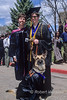 MR, Blind Woman, guide dog, graduate from Fort Lewis College, Durango, Colorado, USA, North America