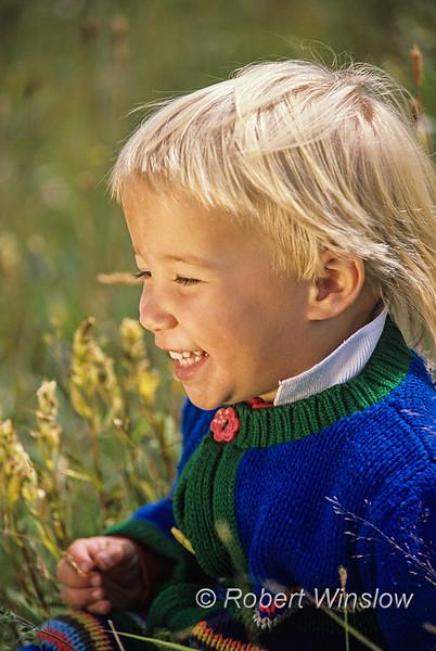 Model Released, 2 year old, girl, in a meadow, La Plata County, Colorado, USA, North America