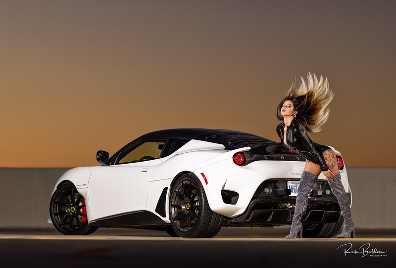 Makayla has the perfect hair for a shot like this!    Downtown Charlotte last weekend, working with my friends at NC AutoModels featuring Makayla and a Lotus Evora.    ............................................  Shot for:  @nc.automodels   Model:  @makadelics  Coordinator: @melissa.xo.renee   Stylist: @sarahdecouto  Video: @michaelburganphotography    Car: Lotus Evora GT  Owner:  lotus_lawrie  ................................................................