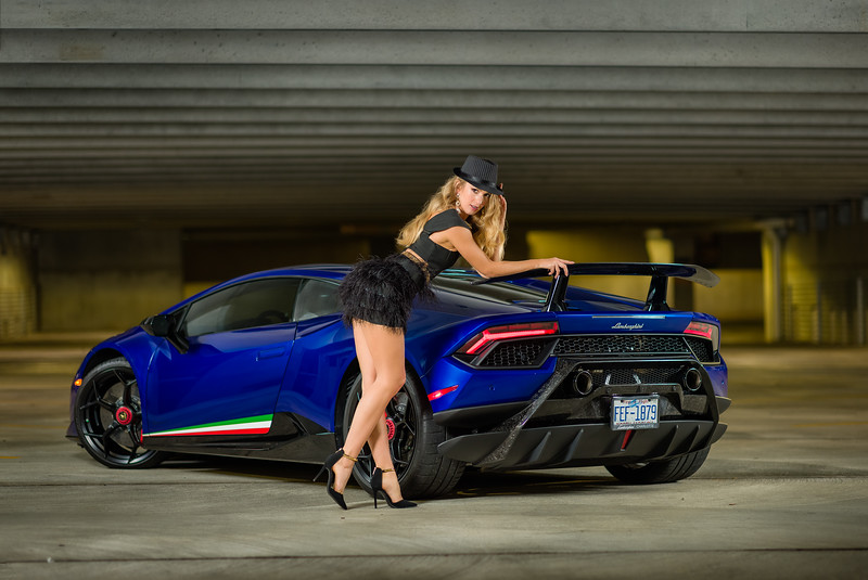Beauty and the Beast!  Creating with my friends at NC AutoModels featuring Olga and a Lamborghini.    ............................................  Shot for:  @nc.automodels   Model:  @happy_lady_from_odessa  Coordinator: @melissa.xo.renee    Video: @edgarolvera_   Car: Lamborghini Huracan Performante  Owner:  @moemurad   ................................................................