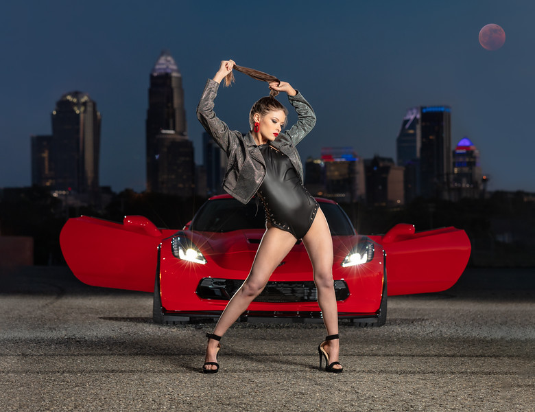 The lighting for these shots were so much more complex than they look....but well worth the effort!   Created so many beautiful images on our first NC Auto Models Photoshoot.  The strength and Beauty of our Model Lexi and a Corvette Grand Sport was the perfect combination!  Model: @redhot_rebellion_  MUA: @makeupbykait.xoxo   Assistant: @savanahritch   Videographer: @michaelburganphotography   Project Manager and Stylist:  @melissa.xo.renee   ..........................................................