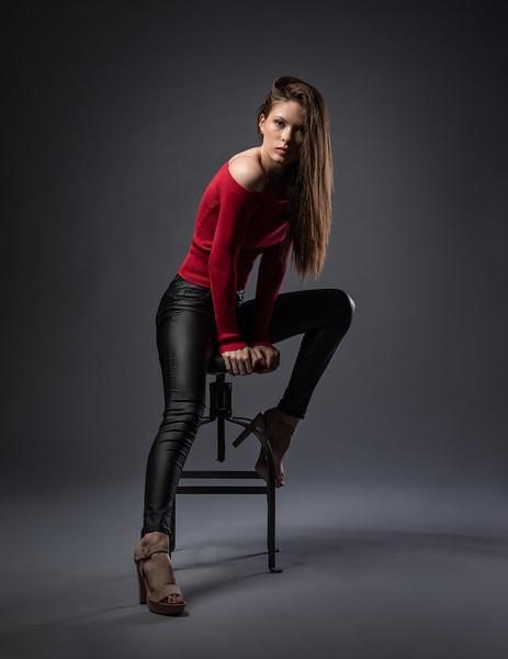 The talented Ms. Lexi in my studio recently working on her fashion portfolio.    ..................................    Model:  redhot_rebellion_  MUA:  makeupbykait.xoxo  Copyright: @RickBeldenPhotography.        ...................................................