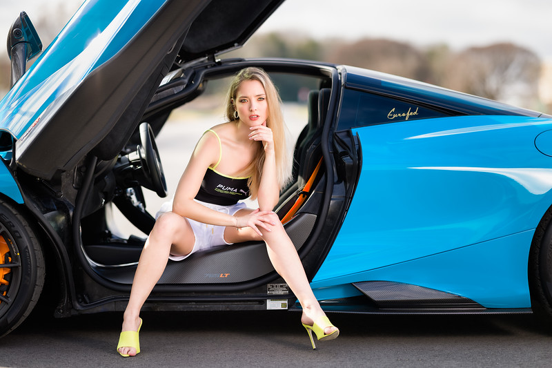 I have a good gig....I get to work with the most beautiful people and amazing cars in the world!  ............................................  Shot for:  @nc.automodels   Model:  @laura_4031 Coordinator: @melissa.xo.renee  Stylist: Sarah DeCouto  Videographer:  Edgar Olvera   Car: McLaren 765LT  Dealership:  @mclarenclt    Owner:  @airlinerphoto1   Location: Bosworth Customs  ................................................................