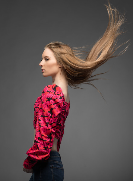 Ms. Ada had the perfect hair for shots likie this!   Some portfolio building work in my studio last week with Actress/Model:  @adamogilevsky ...................................................