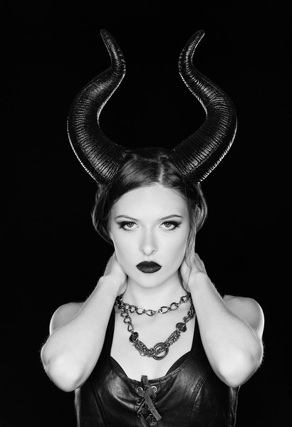 """Well here is something abit different....a """"Maleficent"""" themed photoshoot.  I was abit tramatized as my Model Lexi was surprizingly comfortable  finally getting to show off her true self!! :)      ..................................................    Model:  redhot_rebellion_  MUA:  makeupbykait.xoxo  Copyright: @RickBeldenPhotography.        ..................................................."""