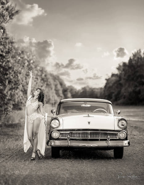 A Classic Car with a Cassic Beauty....what could go wrong?  Nothing!     Model:  @anaacela  HMUA:  @olizmercado3  Car: 1955 Ford Crown Vic  Styled by: @nc.automodels  Special thank you to my friend @mighty_mouse_529 for the use of her private Airstrip.  ..................................  .............................