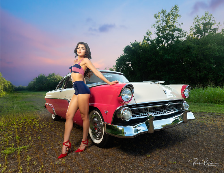 I couldn't take a bad photo of these two if I tried!!!    Model:  @anaacela  HMUA:  @olizmercado3  Car: 1955 Ford Crown Vic  Styled by: @nc.automodels  Special thank you to my friend @mighty_mouse_529 for the use of her private Airstrip.  ..................................  .............................