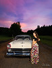 I couldn't take a bad photo of these two if I tried!!!  Sunset was the perfect time to photograph this set up.   Model:  @anaacela  HMUA:  @olizmercado3  Car: 1955 Ford Crown Vic  Styled by: @nc.automodels  Special thank you to my friend @mighty_mouse_529 for the use of her private Airstrip.  ..................................  .............................