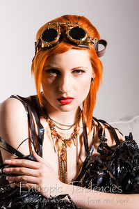 Ulorin Vex, steampunk goggles, make-up by Aileen Wallace